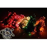 ASCENSION Set Of 4 Rice Lights Serial Bulbs Decoration Lighting For Festival Diwali Christmas With 5 Female Sockets...