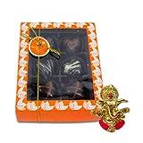 Chocholik Belgium Chocolate Gifts - Attractive Treat Of Chocolate Hearts With Ganesha Idol - Diwali Gifts