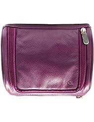 Hidepark Leather Multi-Colour Toiletry Kit Bag - B013OQUU5G