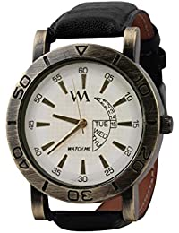 WATCH ME WHITE BROWN LEATHER ANALOG WATCH FOR MEN AND BOYS WM-081-W
