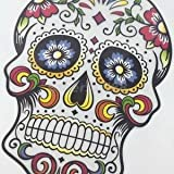 Alcoa Prime 1pc Floral Printing Skull Wall Sticker/IRON ON TRANSFER T-SHIRT For Kids NEW