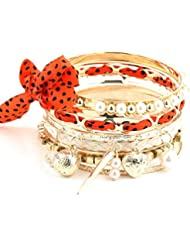 Hot And Bold Magnificent Party-Look Gold Plated Multilayered Chram Bangles & Bracelets For Women & Girls. Free...