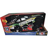 Fast Lane Funny Car With Rise Up Body, Black And Green
