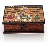 Kiran Udyog Wooden Hand Painted Dhola Maru Jewellery Box 330