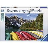 Ravensburger Puzzles Mountain Canoes, Multi Color (2000 Pieces)