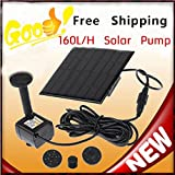 2X Solar Panel Submersible Fountain Pond Power Water Pump Kit Garden Pool Water~