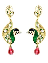 Shining Diva Ethinic Peacock Designed Hanging Earrings For Women