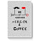 PosterGuy Cream & Coffee Love ~ By Artflair Valentines, Love, Cream, Coffee Poster (A4)