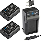 EforTek NP-FW50 Replacement Battery (2-Pack) And Charger Kit For Sony NP-FW50 And Sony Alpha 7 A7 Alpha 7R A7R...