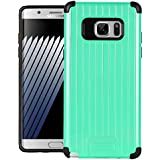 Dr Chen Samsung Galaxy Note 7 Case Metal Armor Cover Hybrid Tpu + PC Dual Layer Back Cover For Samsung Galaxy Note 7 (Sea Green)