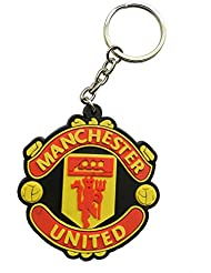 Techpro Singlesided Rubber Keychain With Manchester United Design