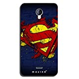Mozine Superman Logo Designer Mobile Back Cover For Micromax Unite 2 A106