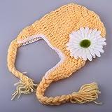 SySrion Cute Baby Infant Sunflower Costume Crochet Knit Photo Prop 0-12 Mon