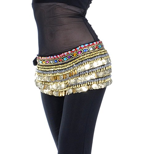 Dance Fairy Black Gold Coins belly dance hip