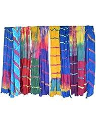 PMS Pure Cotton Handmade Tye Dye Woman Duppata Combo Pack Of 10 Multi Color