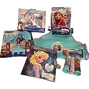 Disney Frozen Anna Elsa Bundle: Apron, 3 Pc Gardening Kit, Elsas Book Of Secrets, Jump Rope, 48 Pc Puzzle, Best...