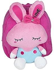 Very Cute School Bag For Kids, Travelling Bag, Carry Bag, Picnic Bag Dark Pink Kitty