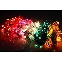 ASCENSION Set Of 7 Rice Lights 10 METER LENGTH Serial Bulbs Decoration Lighting For Diwali Christmas Lighting-Random...