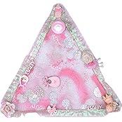 Renu's Fiber Triangle Tray (30 Cm X 30 Cm X 30 Cm, Pink)