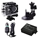 Sjcam Sj4000 Wifi1080P 12Mp Digital Sports Waterproof Helmet Camera+ Car Use Kit+Battery For Sjcam Sj4000