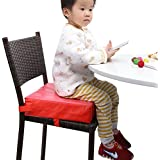 Zicac Baby Kids Chair Pads Chair Increasing Cushion Dismountable And Adjustable Booster Seat Mat (Red)