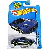 Mattel Hot Wheels, 2014 HW City 35/250, Speed Team, Ferrari 458 Italia (blue)