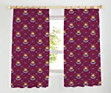 West Ham United Tape Top Curtains, Claret, 66 x 72-Inch