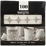 D NOOK Metal Tea Light Candle (3.5 Cm, White, Set Of 100, 23)