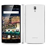 "HOMTOM HT7 - Smartphone Libre Android 5.1 (Quad Core, Pantalla 5.5"", IPS 1280*720 HD, 1GB RAM, 8GB ROM, Cámara 5.0MP, Dual SIM, Smart Wake) Blanco"