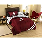 NCAA Alabama Crimson Tide Twin Comforter Sheets And Sham (5 Piece Bed In A Bag)