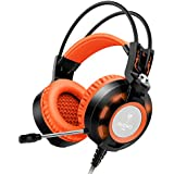 Headset,Ailihen K6 Gamer Gaming Headsets With Microphone For PC Laptop Computer, 3.5mm USB 2.0 Over Ear Headphones... - B01DNC4GRO