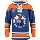 NHL Edmonton Oilers Conor McDavid Men's Player Lacer Name & Number Hoodie, Large, Multicolor