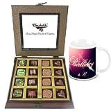 Chocholik Luxury Chocolates - Dark And Best Collection Of Beautiful Chocolates With Birthday Mug