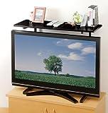 スライド式 薄型テレビ用ラック ブラウン 607212