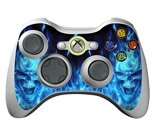 Game Xcel Xbox 360 High Gloss Controller Skin Protective Vinyl Sticker For X360 Slim Wireless Game Controller X3 Controller Decal Blue Deamon [ Controller Not Included ]