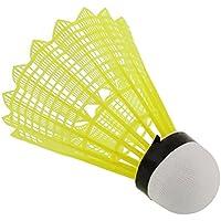 6pcs Train Gym Yellow Nylon Shuttlecocks Birdies Badminton Ball Durable Useful