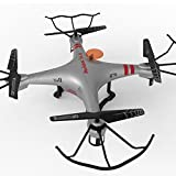 GPTOYS H2O Aviax Waterproof Drone 3D Eversion 6 Axis Gyro Headless Mode 2.4GHz 4CH LCD RC Quadcopter Support DIY (Silver)