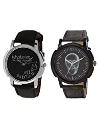 Relish Black Analog Round Casual Wear Watches For Men - B019T7L88W