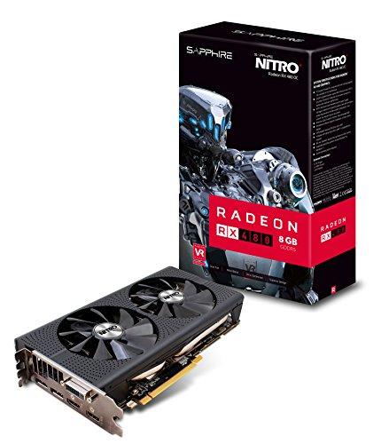 Sapphire Radeon NITRO+ Rx 480 8GB GDDR5 Dual HDMI / DVI-D / Dual DP OC w/ backplate (UEFI) PCI-E Graphics Card Graphics Cards 11260-01-20G