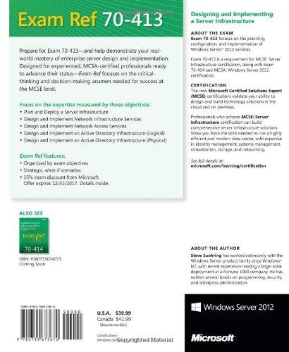 Microsoft press book 70-410 microsoft exam