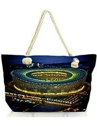 Snoogg Stadium At Night Women Anchor Messenger Handbag Shoulder Bag Lady Tote Beach Bags Blue