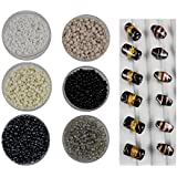 Eshoppee 8/0 Glass Seed Beads For Jewellery Making, Art & Craft Diy Kit Set Of 6 Colors , 20Gm X 6 Colors