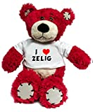 Plush Bear Toy with I Love Zelig t-shirt (first name/surname/nickname)