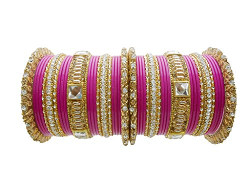 Rani Lac Bridal Chura Wedding Bangles Set By My Design(size-2.8)