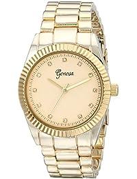 Geneva Women's 1671C-GEN Analog Display Quartz Gold Watch