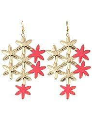 ORNAMAS Starfishment Gold Metal Dangle & Drop Earring For Women