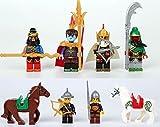 8 Sets MiniFigures Three Kingdoms Guan Yu lvbu War Horse IN STOCK /item# G4W8B-48Q52309