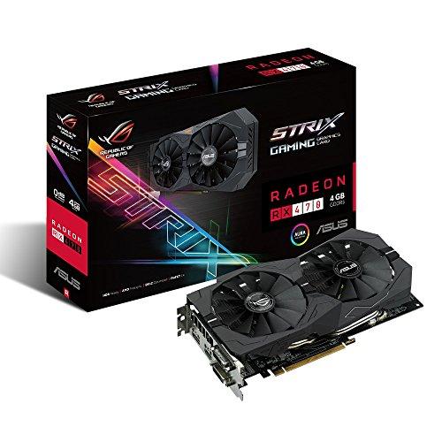 ASUS ROG STRIX Radeon Rx 470 4GB DP 1.4 HDMI 2.0 AMD Gaming Graphics Card (STRIX-RX470-4G-GAMING)