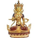 Exotic India Vajrasattva - Copper Statue Gilded With 24 Karat Gold