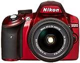 【Amazon.co.jp限定】Nikon デジタル一眼レフカメラ D3200 標準ズームキット レッド AF-S DX NIKKOR18-55 f/3.5-5.6G VR II D3200RD LK18-55GVR2